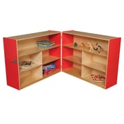 Wood Designs Versatile Folding Storage Unit; Strawberry Red