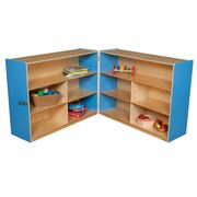 Wood Designs Versatile Folding Storage Unit; Blueberry
