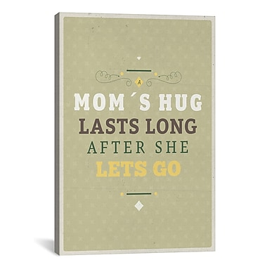 iCanvas American Flat Mom s Hug Textual Art on Wrapped Canvas; 41'' H x 27'' W x 1.5'' D