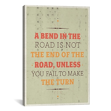 iCanvas American Flat A Bend Textual Art on Wrapped Canvas; 41'' H x 27'' W x 1.5'' D