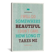 iCanvas American Flat Beautiful Textual Art on Wrapped Canvas; 18'' H x 12'' W x 0.75'' D