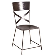 Wildon Home   X-Back Dining Chair; Antique Nickel