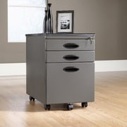 Studio RTA 3-Drawer Mobile File Cabinet; Pewter/Black