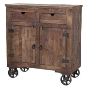 Stein World Cordelia Rolling 2 Drawer Cabinet