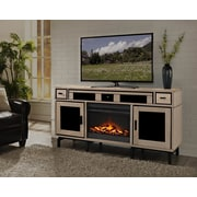 Turnkey LLC Soho TV Console with Surround Sound and Fireplace; Natural