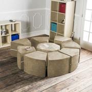 Jaxx Jaxx Octagon Arrangement Kids Novelty Chair; Camel