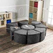 Jaxx Jaxx Octagon Arrangement Kids Novelty Chair; Charcoal