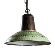 Wildon Home   Carlton Pendant Light; Vintage Green