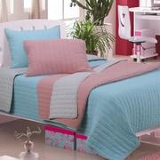 Simple Luxury Brandon 2 Piece Cotton Quilt Set; Light Blue