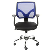 Merax Mesh Office Task Chair with Arms; Blue