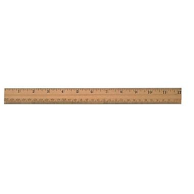 WestcottMD – Règle en bois avec arête plate, 12 po/30 cm