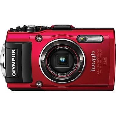 Olympus – Appareil photo numérique Tough TG-4, rouge