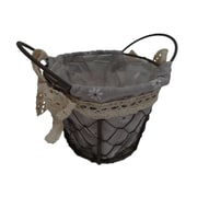 Cheungs Round Lined Wire Basket; Small