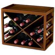 Wine Enthusiast Companies 12 Bottle Wine Rack; Walnut Stain