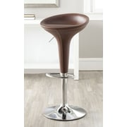 Safavieh Adjustable Height Swivel Bar Stool; Brown