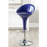 Safavieh Adjustable Height Swivel Bar Stool; Navy Blue