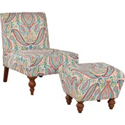 HomePop Slipper Accent Chair & Ottoman