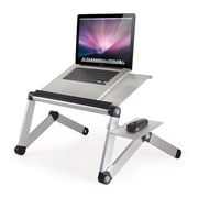 Furinno Ergonomics Adjustable Laptop Cart; Silver