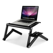 Furinno Ergonomics Adjustable Laptop Cart; Black