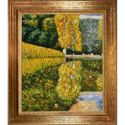Wildon Home   Schonbrunn Park Canvas Art by Gustav Klimt Modern - 35'' X 31''