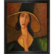 Wildon Home   Portrait of Woman in Hat Canvas Art by Amedeo Modigliani Art Deco - 31'' X 27''