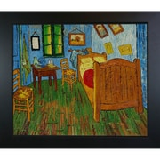 Wildon Home   Bedroom at Arles Canvas Art by Vincent Van Gogh Art Deco - 31'' X 27''