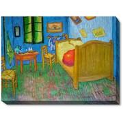 Wildon Home   Vincents Bedroom at Arles Canvas Art by Vincent Van Gogh Modern - 54'' X 44''