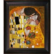 Wildon Home   The Kiss Canvas Art by Gustav Klimt Modern - 35'' X 31''