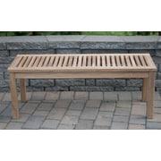 Arbora Teak Calcutta Backless Solid Teak Picnic Bench; 17'' H x 48'' W x 16'' D