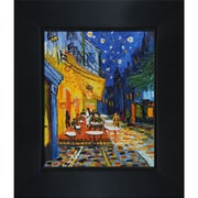 Wildon Home   Cafe Terrace at Night Canvas Art by Vincent Van Gogh Modern - 28'' X 24''