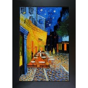 Wildon Home   Cafe Terrace at Night Canvas Art by Vincent Van Gogh Modern - 46'' X 36''