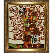 Wildon Home   Fulfillment - The Embrace Canvas Art by Gustav Klimt Modern - 31'' X 27''
