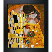 Wildon Home   The Kiss Canvas Art by Gustav Klimt Modern - 31'' X 27''