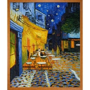Wildon Home   Cafe Terrace at Night Canvas Art by Vincent Van Gogh Modern - 35'' X 31''