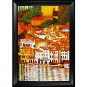 Wildon Home   Malcesine on Lake Garda Canvas Art by Gustav Klimt Modern - 46'' X 36''