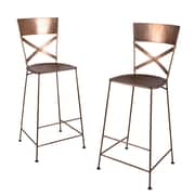 Wildon Home   Dayton Barstool (Set of 2); Copper