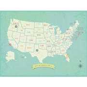 Children Inspire Design My Travels Personalized USA Map Graphic Art