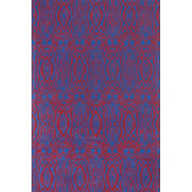 Chandra Condit Blue/Red Area Rug; 5' x 7'6''