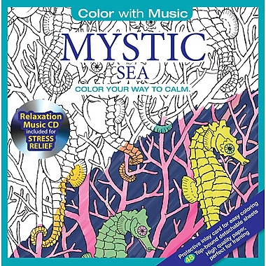 Color with Music, Adult Colouring Book, Mystic Sea, Music from Mystic Sea, 48 Pictures
