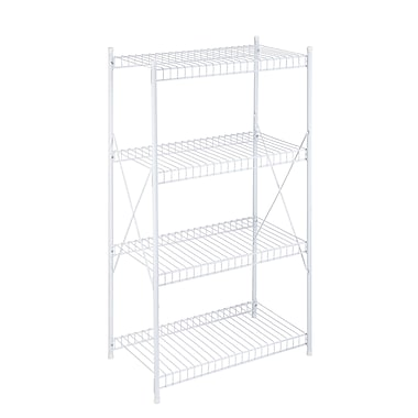 honey can do 4 tier white wire shelving unit shf 05270. Black Bedroom Furniture Sets. Home Design Ideas
