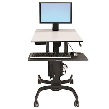 ErgotronMD – 24-215-085 WorkFit-C, station de travail en position assise ou debout, écran simple, poids léger
