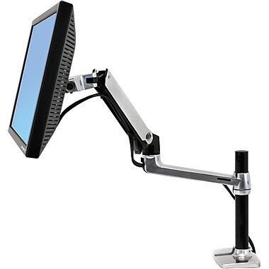 Ergotron® 45-295-026 LX Desk Mount LCD Arm, Tall Pole