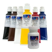 Rheotech Gloss Gel Medium Acrylic Paint Set for Academic Artists, 6 x 60mL + 120ml