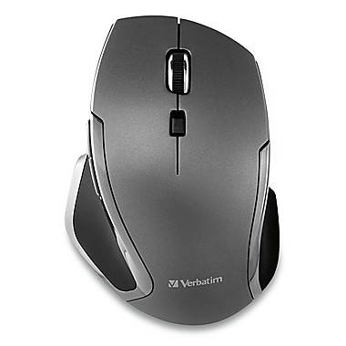 Verbatim Wireless Notebook 6-Button Deluxe Blue LED Mouse, Black