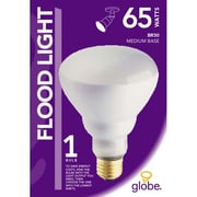 Globe BR30 Incandescent Flood Light, 120v, 65W