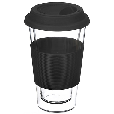 Grosche – Tasse de voyage Glassen à double paroi, noir, 350 ml