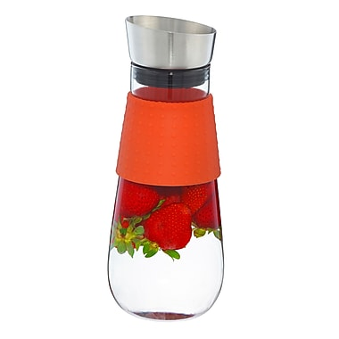 Grosche Maui Water Pitcher and Fruit Infuser, Orange, 1 Litre