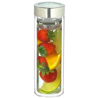 Grosche Montreal Double Walled Fruit and Tea Infuser, Chrome, 400ml