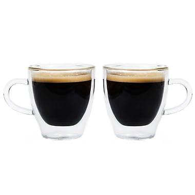 Grosche Turin Double Walled Espresso Glasses, 2 x 140ml