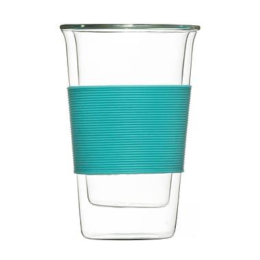 Grosche Glassen Double Walled Travel Mug, Blue, 350ml